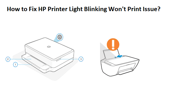 HP Printer Light Blinking