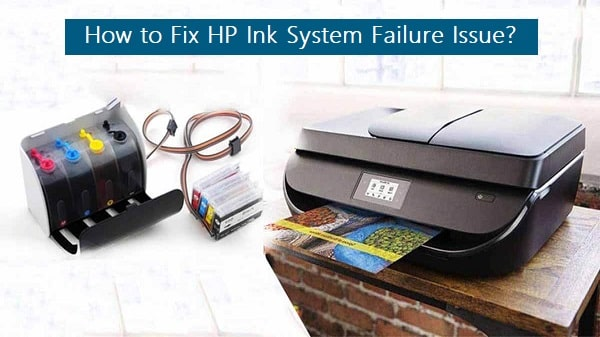 hp 8600 ink system failure